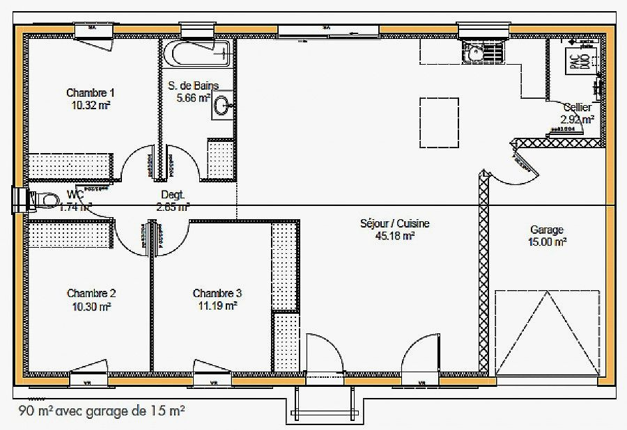 Plan Maison Plain Pied 100m2 Votre Avis 87 Messages