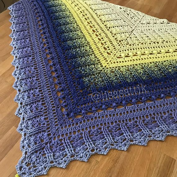 PDF Crochet Shawl Pattern Custard Cream | a | Pinterest | Ponchos ...