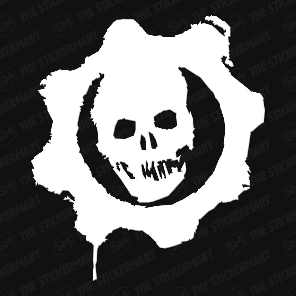 Gears Of War Cog Skull Vinyl Decal Vinyl Decals Gears Of War Vinyl