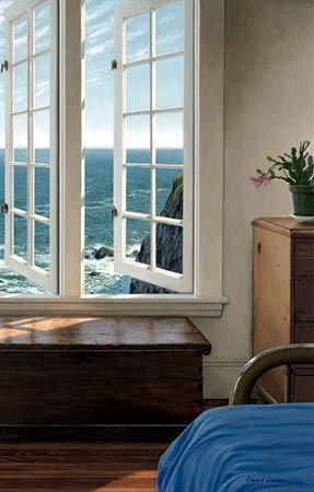 ◇ Artful Interiors ◇ paintings of beautiful rooms - Edward Gordon - Peindre Fenetre Bois Interieur