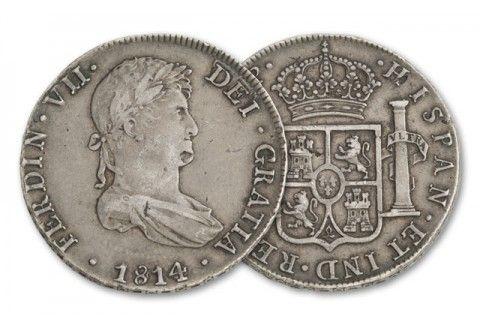 1809-1814 Spain Silver 8 Reales Madison-Jackson