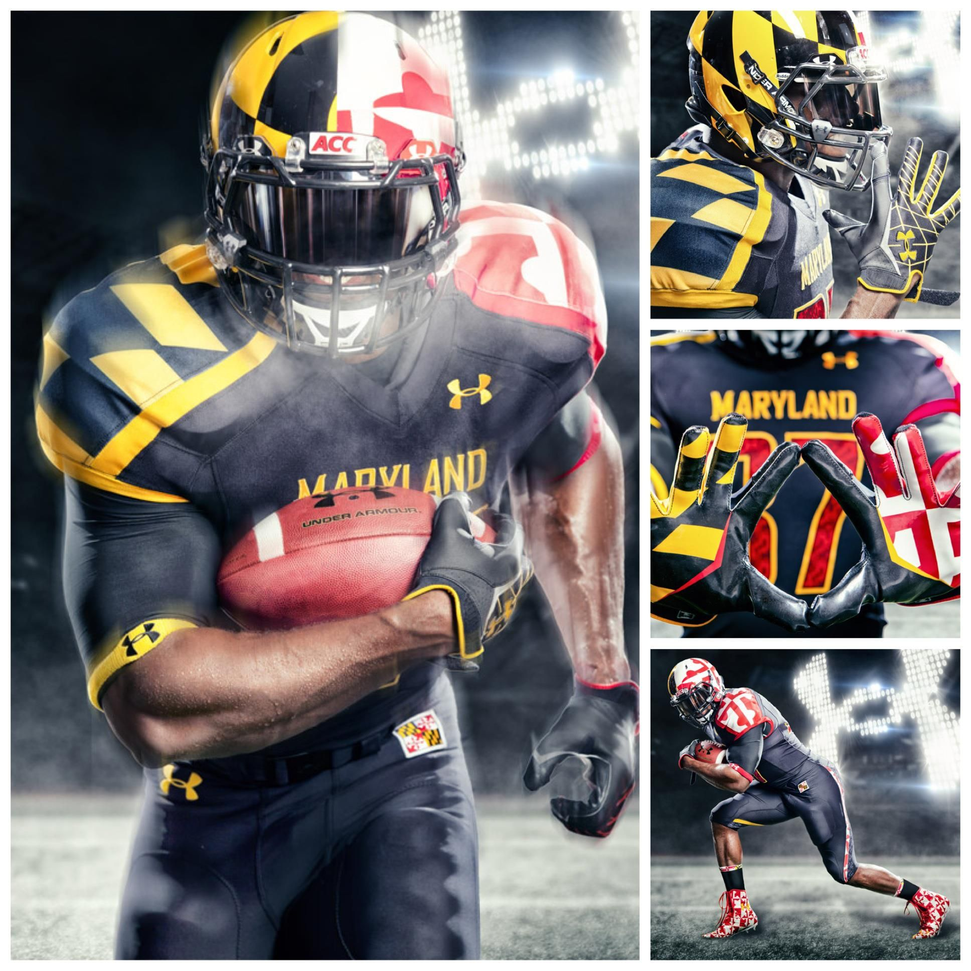 New University Of Maryland Football Pride Uniforms Love That Flag Go Terps Nfl Football Uniforms College Football Uniforms Football Uniforms