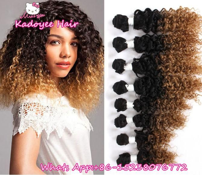 8inch Cheap Hair Ombre Brownbug 8pcs Loose Wave Brazilian Hair