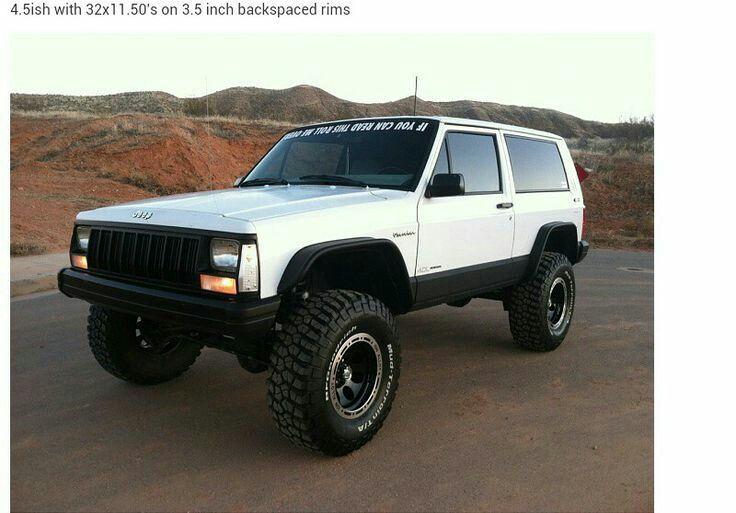 2 Door Xj 4 5in Lift 32in Tires Jeep Xj Lifted Jeep Cherokee Jeep Cherokee