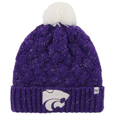 620e7644a Kansas State Wildcats  47 Brand Womens Fiona Cuff Knit Beanie – Purple