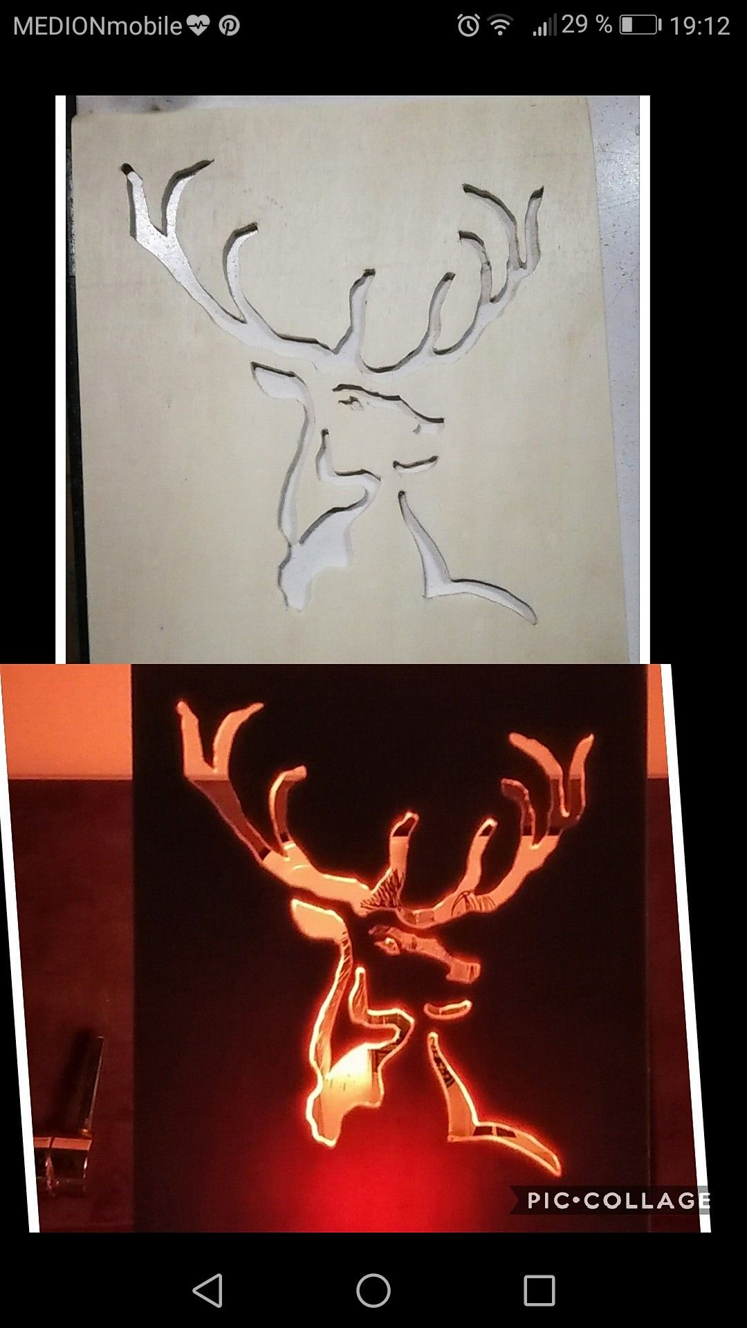 Geschenk Jager Hirschkopf Mit Led Lampe Hinterleuchtet Licht Kann Farbe Wechseln Schablonen Geschenke Basteln