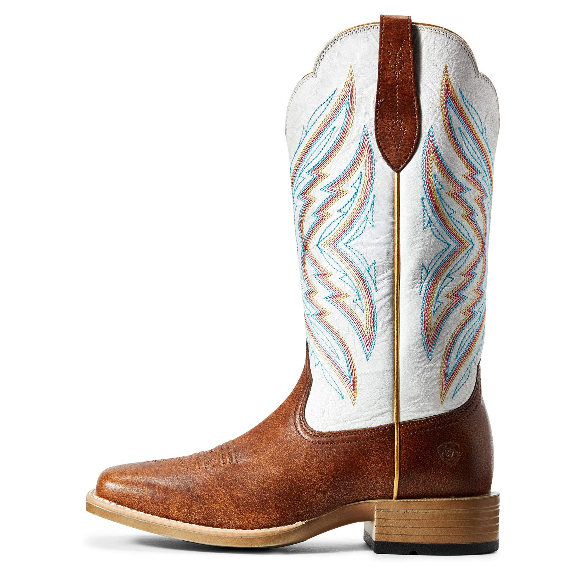 Women/'s Pink Leather Pull On Cowgirl Boots Riding Square Toe Dress Style Fashion