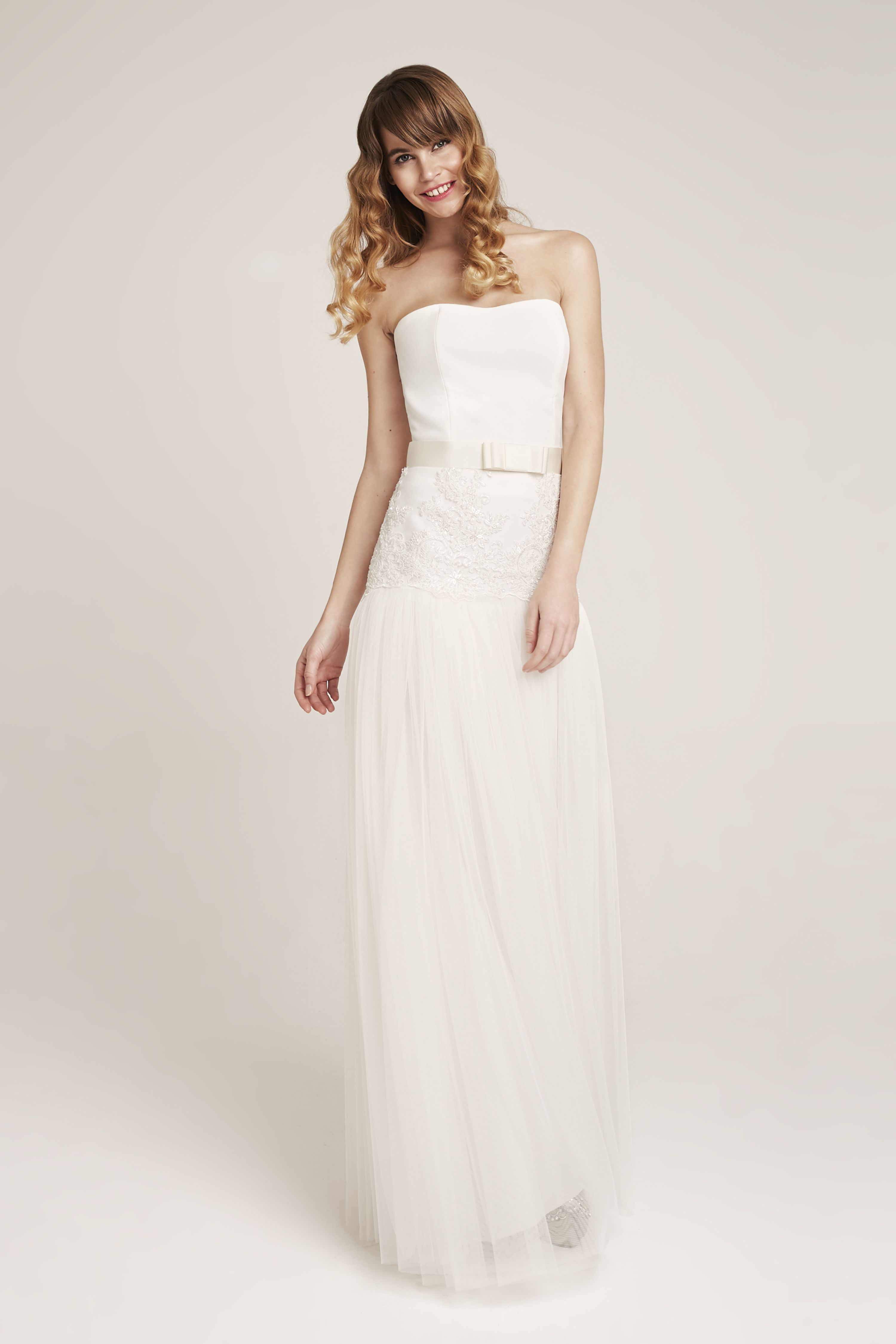 Brady bride corset rania bride skirt and simple bow belt