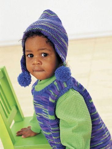 Overalls and Hat | Yarn | Free Knitting Patterns | Crochet Patterns ...