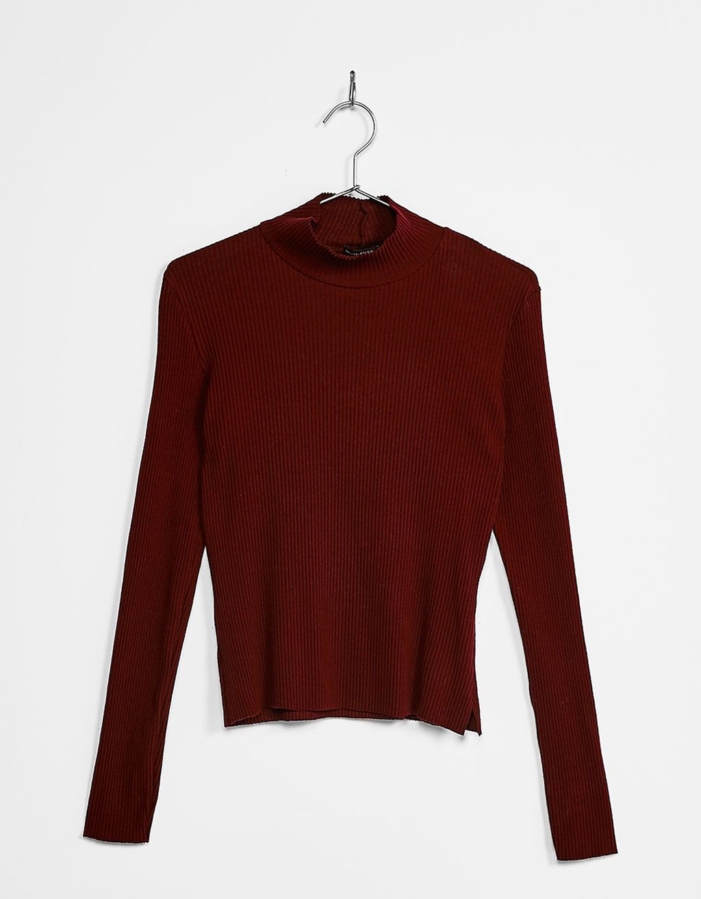 1158e92602 Long sleeved high neck top. Discover this and many more items in Bershka  with new products every week