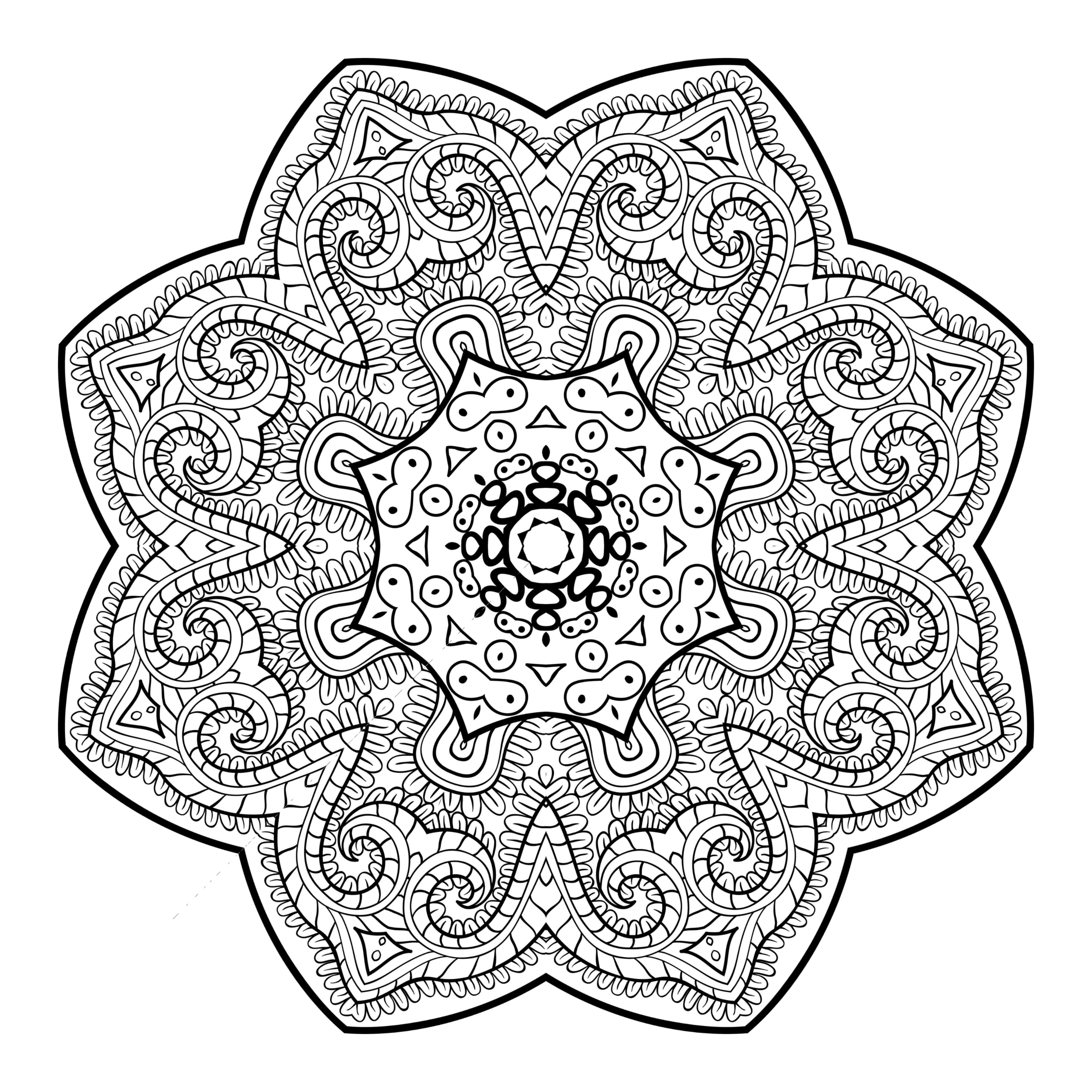 5 Free Printable Coloring Pages: Mandala Templates | Free ...