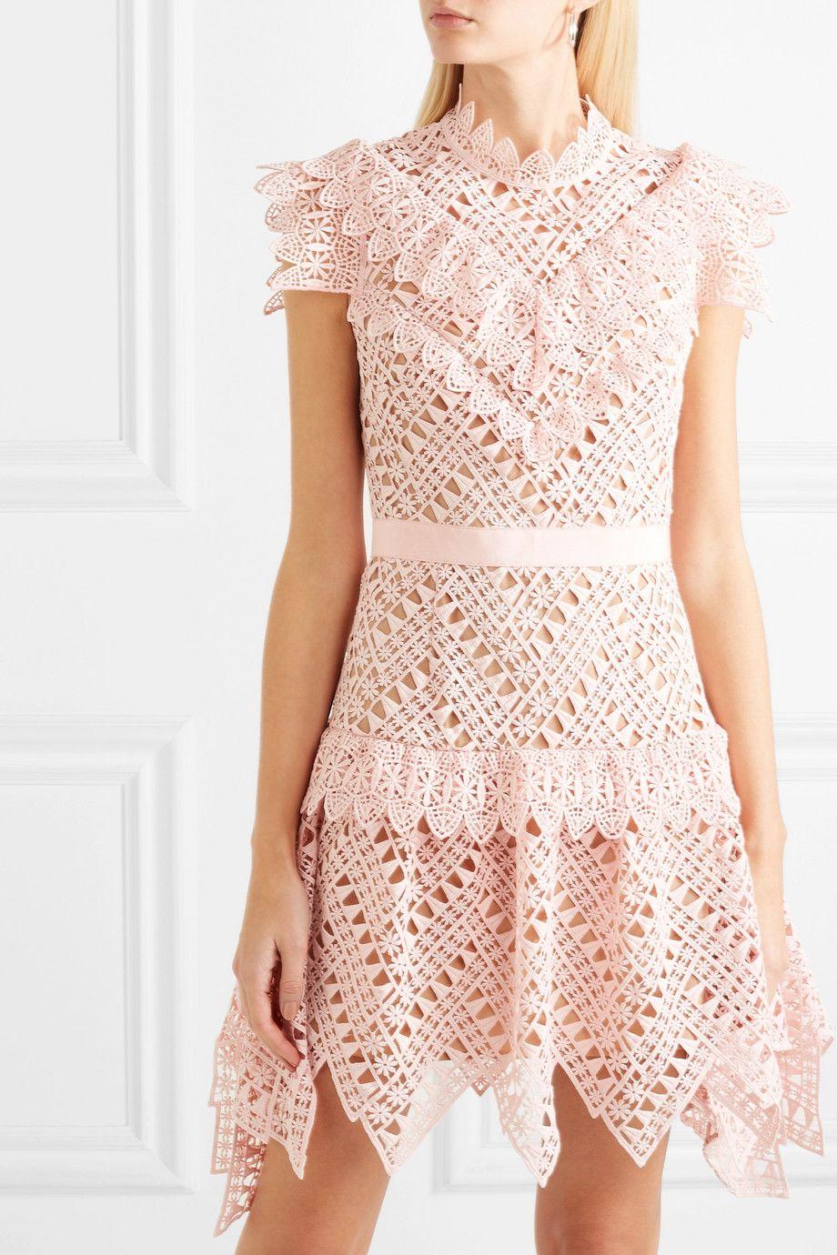192a71649559 Self-Portrait | Guipure lace mini dress | NET-A-PORTER.COM | SS19 ...