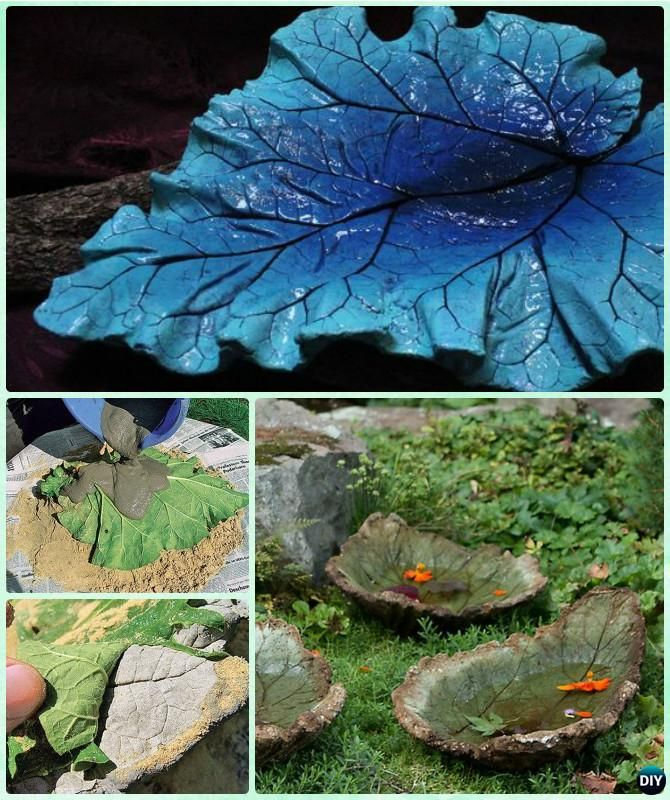 Diy big concrete leaf garden projects instructions - Concrete projects for the garden ...