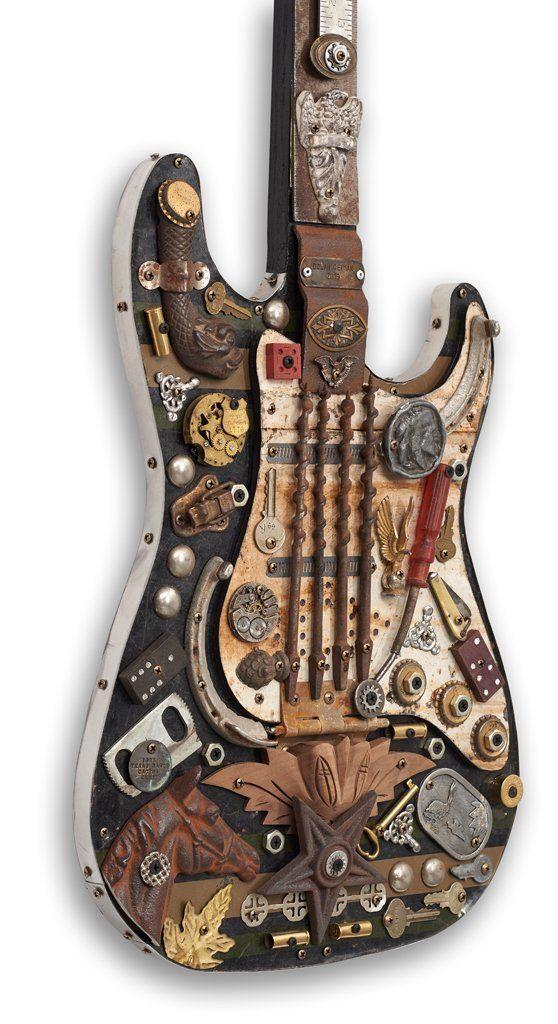 Electric Guitar - Songwriter Souvenir Mixed Media Guitar Art