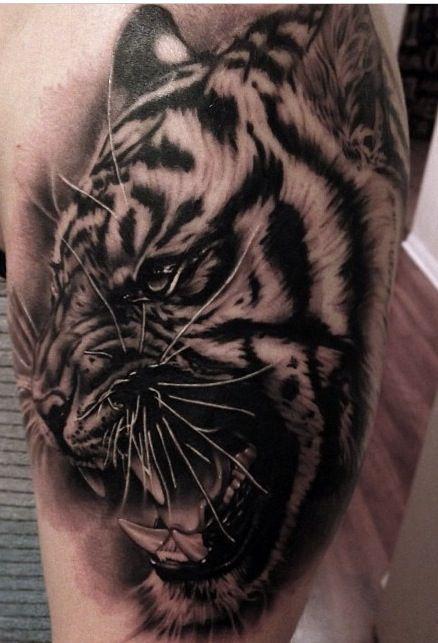 Black Grey Tiger Tattoo Tattoo Artists Tattoo Trends Tattoos