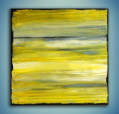 A Yellow Bicycle: Abstract Art - Yellow (idea: on canvas, use colors that match decor, frame photo in center)