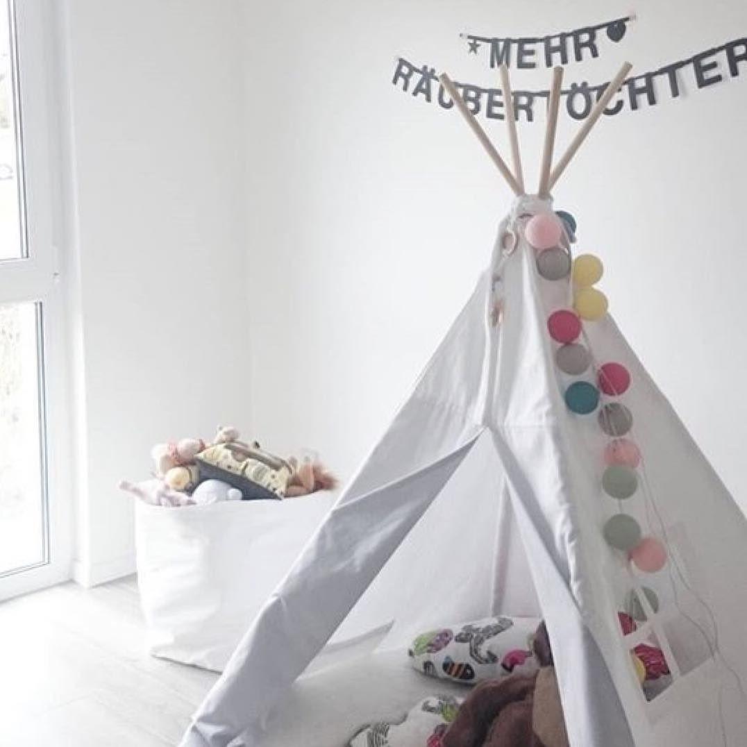Unique Kinder Tipi mit good moods Lichterkette von der lieben cl interior Vielen Dank f r