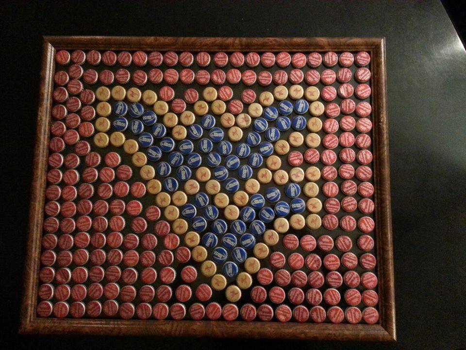 Bottle Top Art West Virginia Wvu Sign Beer Cap Crafts Bottle Cap Crafts Bottle Top Art