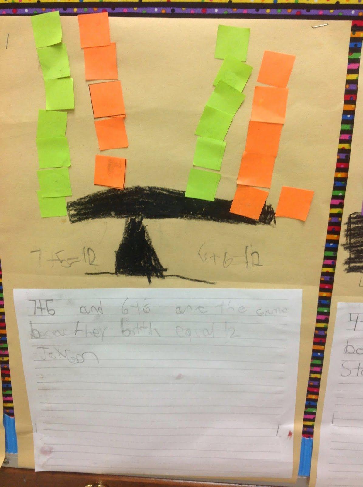 Bishop S Blackboard A First Grade Blog Balanced Equations