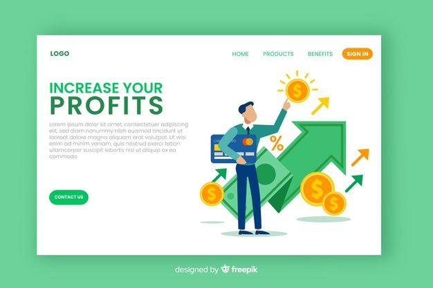 Plantilla de landing page de negocios ve  Premium Vector
