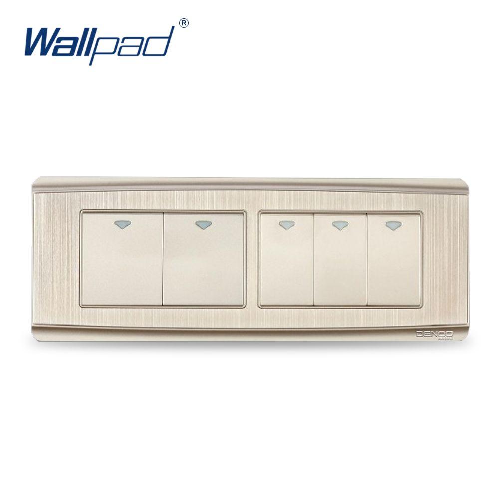 5 Gang 2 Way Free Shipping 2017 Hot Sale China Manufacturer Wallpad 4 Switch For Luxury Push Button Wall