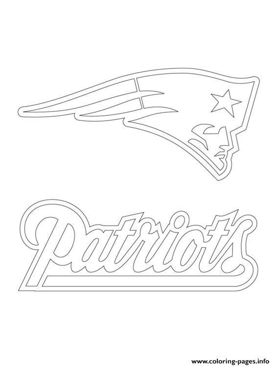 Print New England Patriots Logo Football Sport Coloring Pages New England Patriots Logo Patriots Logo Sports Coloring Pages