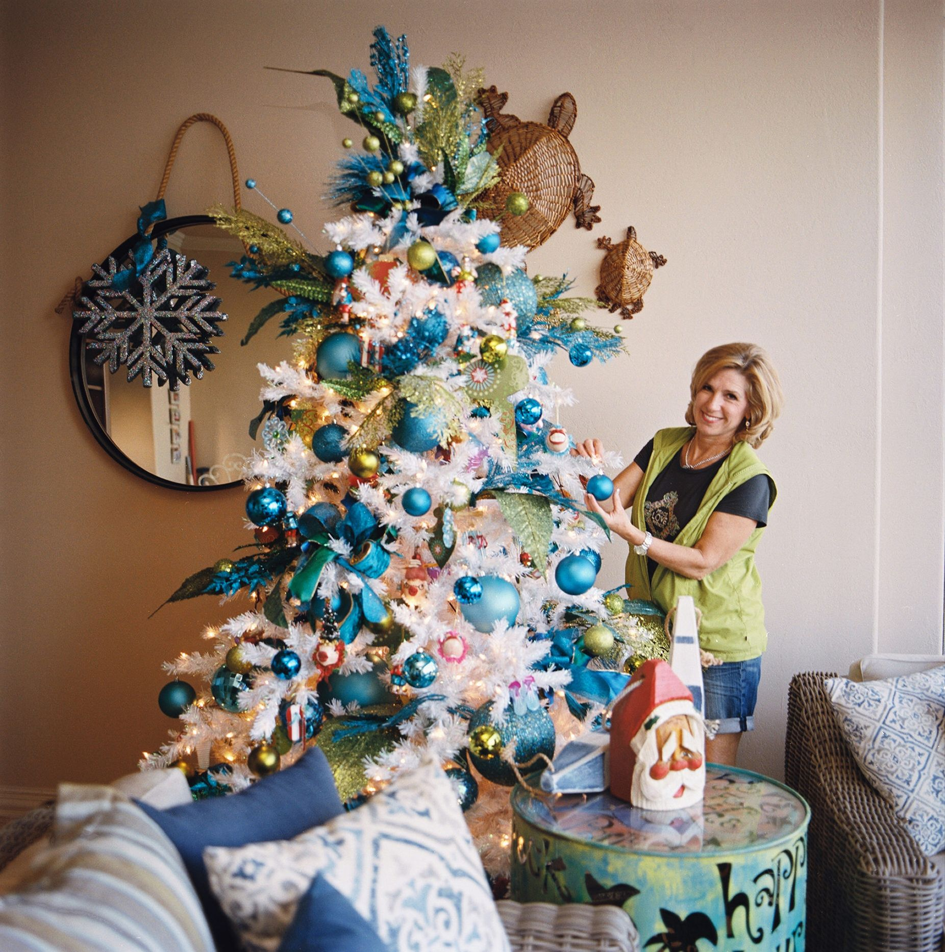 Christmas Trees-Blue And Green For Christmas With Show Me