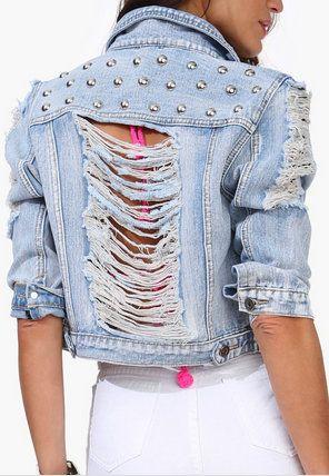 Ronda Studded Jean Jacket