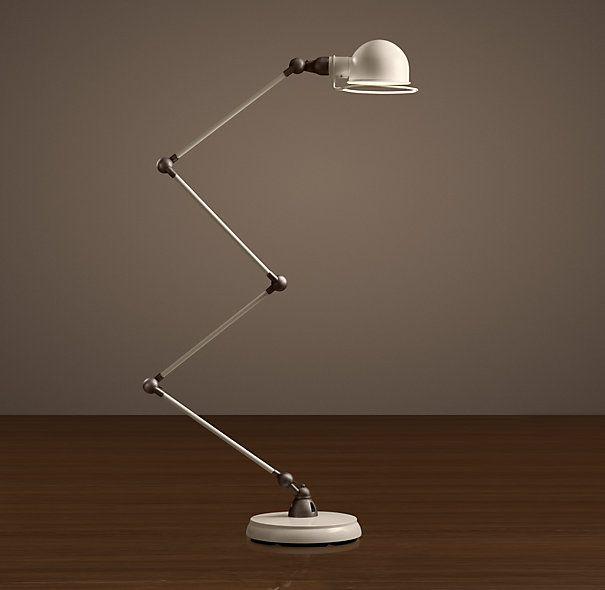 Atelier scissor task floor lamp white enamel restoration hardware atelier scissor task floor lamp aloadofball Images