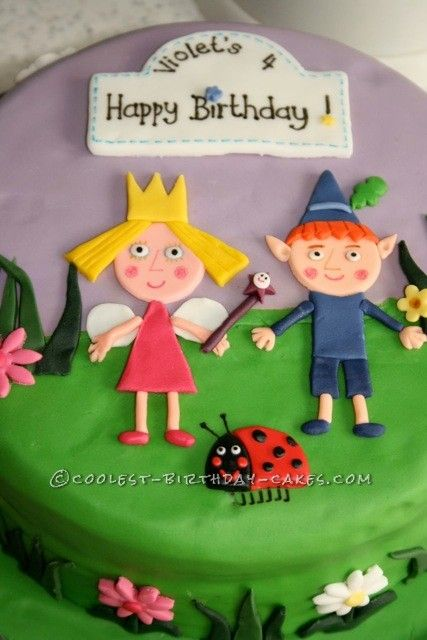 Coolest Ben And Holly Birthday Cake With Images Ben And Holly