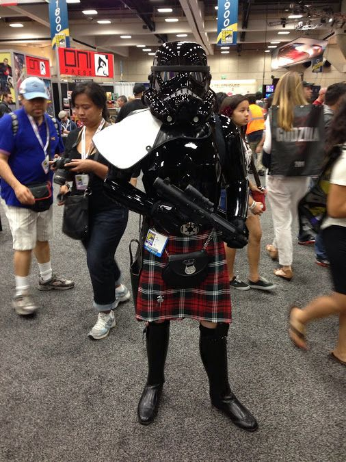 The Scottish Stormtrooper. I would expect he's wearing ...