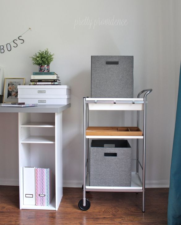 IKEA HACK Desk With Storage Shelves