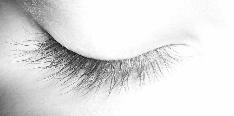 how to draw closed eyelashes