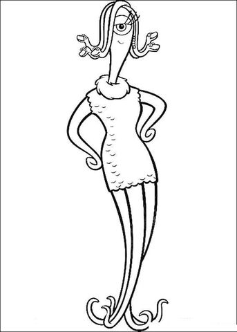 Celia Mae Coloring Page From Monster Inc Category Select From 25714 Printable Crafts Of Cartoons Na Monster Coloring Pages Spongebob Drawings Coloring Pages
