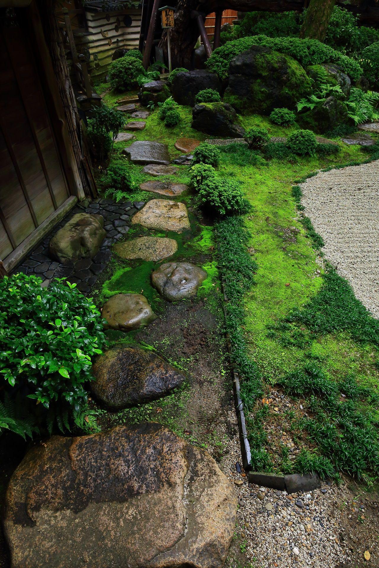島原の角屋の風情ある臥龍松の庭(画像あり) 日本庭園, 庭, こけ庭