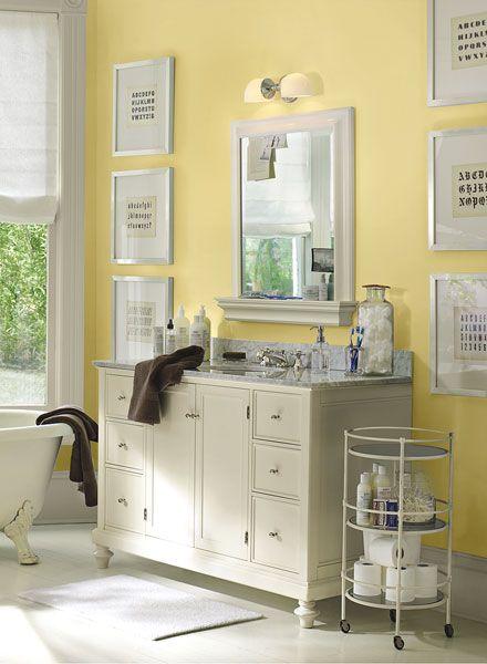 Color A Room Yellow Bathrooms Small Bathroom Bathroom Design