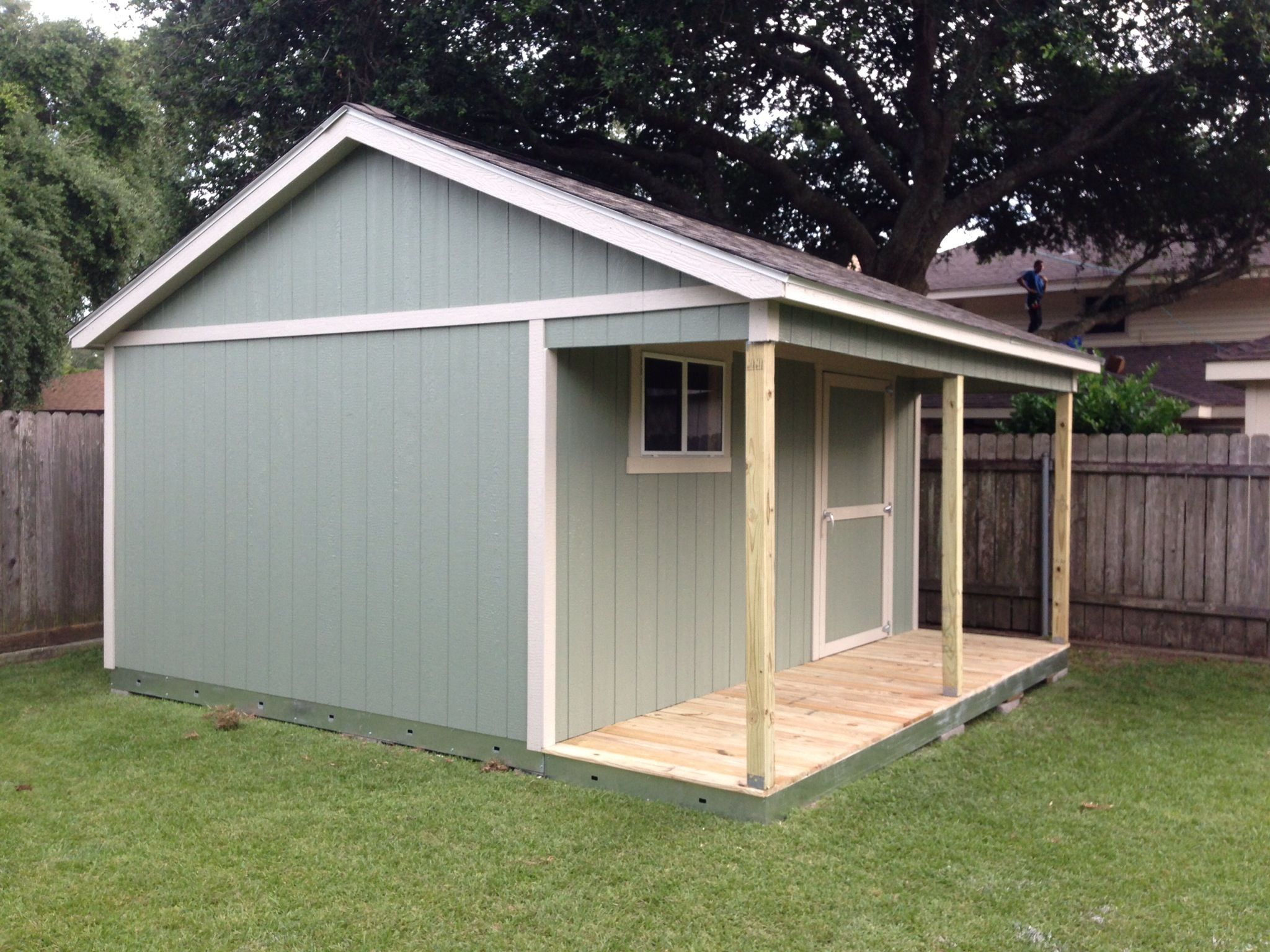 Ok this wasn 39 t diy but this is my new shed 12 39 x16 39 with for Shed with porch