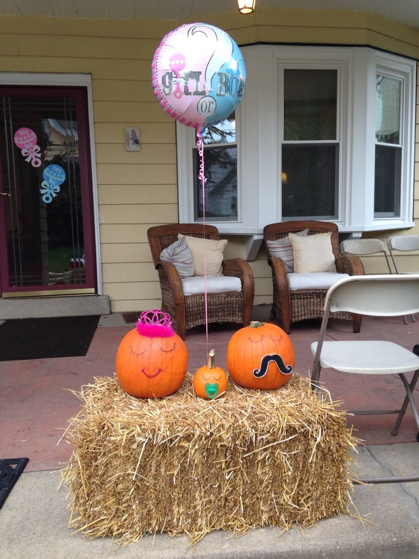 Fall Themed Gender Reveal Party idea! Easy to make decorated ...