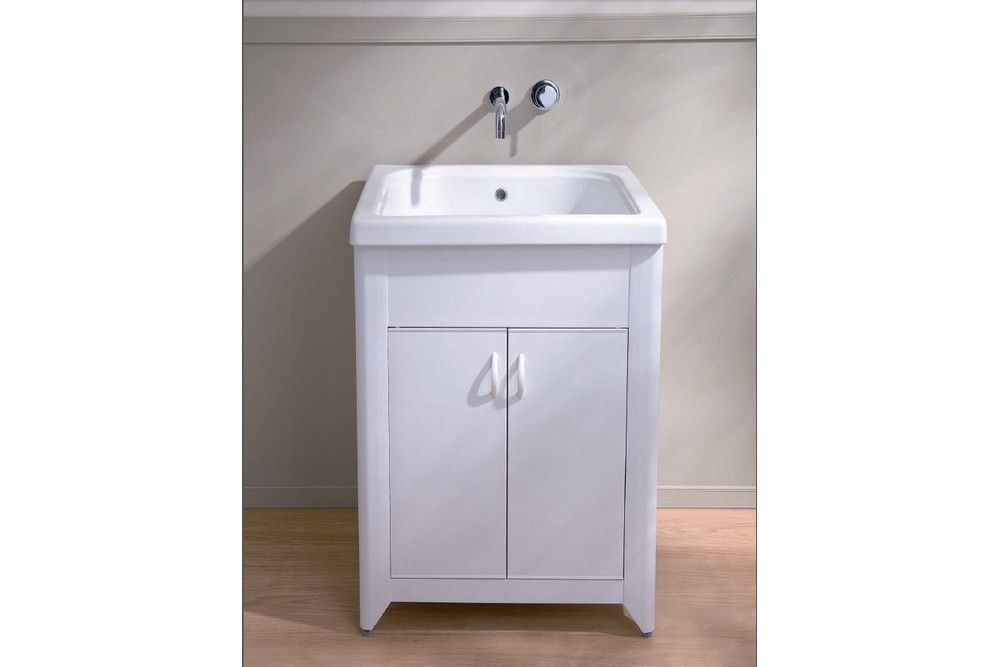 CORALLO - Mobile lavanderia Corallo in acrilico a due ante bianco ...