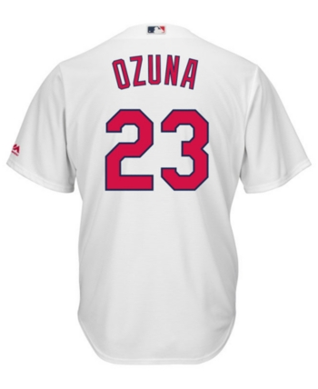 fbdb5084b0a Majestic Men s Marcell Ozuna St. Louis Cardinals Player Replica Cool Base  Jersey - White XXL