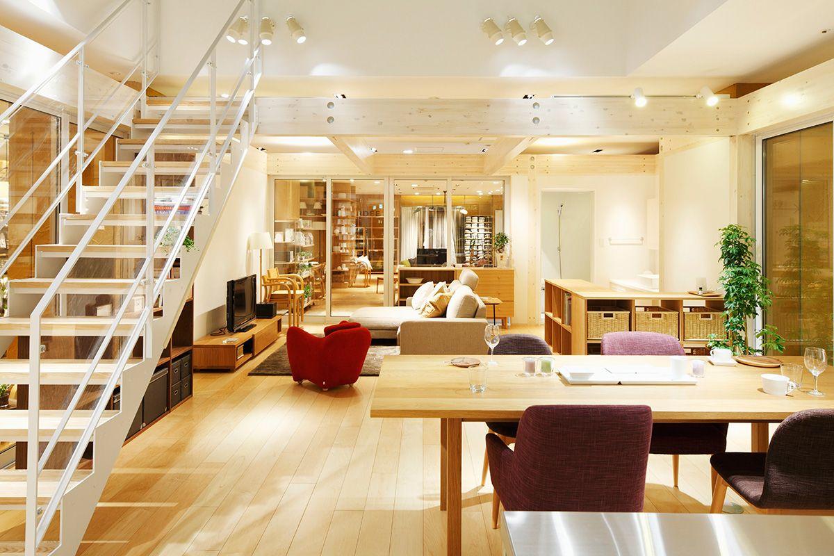 MUJI新宿 家センター-新宿ピカデリーB1のモデルルーム・住宅展示場|無印良品の家 | 無印良品の家, 住宅, 自宅で