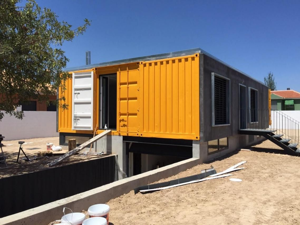 Vivienda con contenedores mar timos en mutxamel for Arquitectura contenedores maritimos