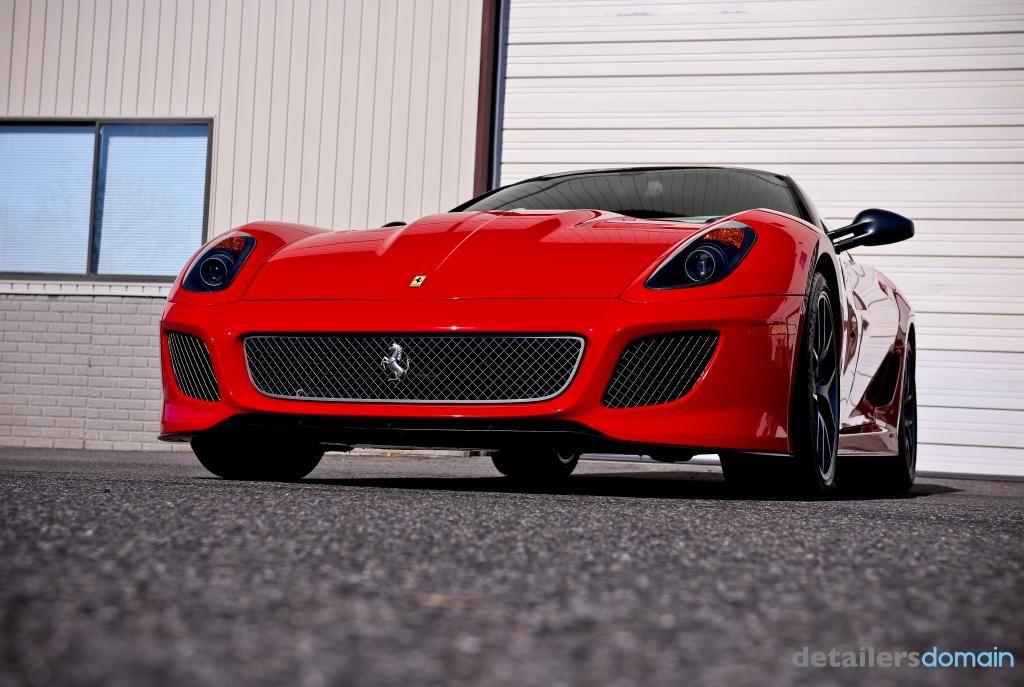 Ferrari 599 GTO in for a wash and wax Sonax Brilliant