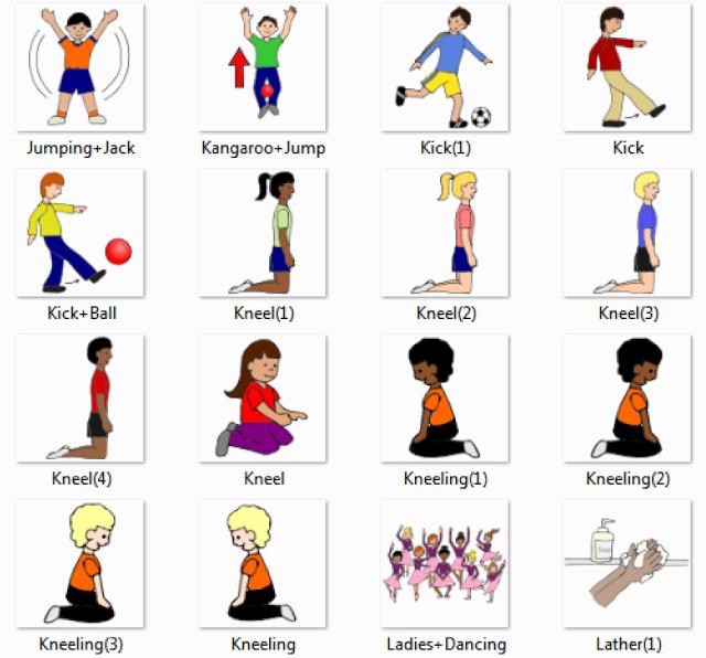 Balance Ball Kick: Jumping Jack , Kangaroo Jump, Kick , Kick Ball, Kneel