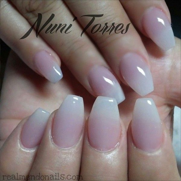 Natural looking acrylic nails ❤ liked on Polyvore featuring beauty ...