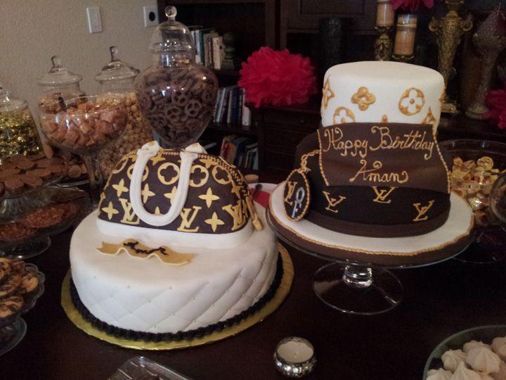 Awe Inspiring Anais Events Louis Vuitton Inspired Birthday Dessert Bars Cake Funny Birthday Cards Online Aeocydamsfinfo
