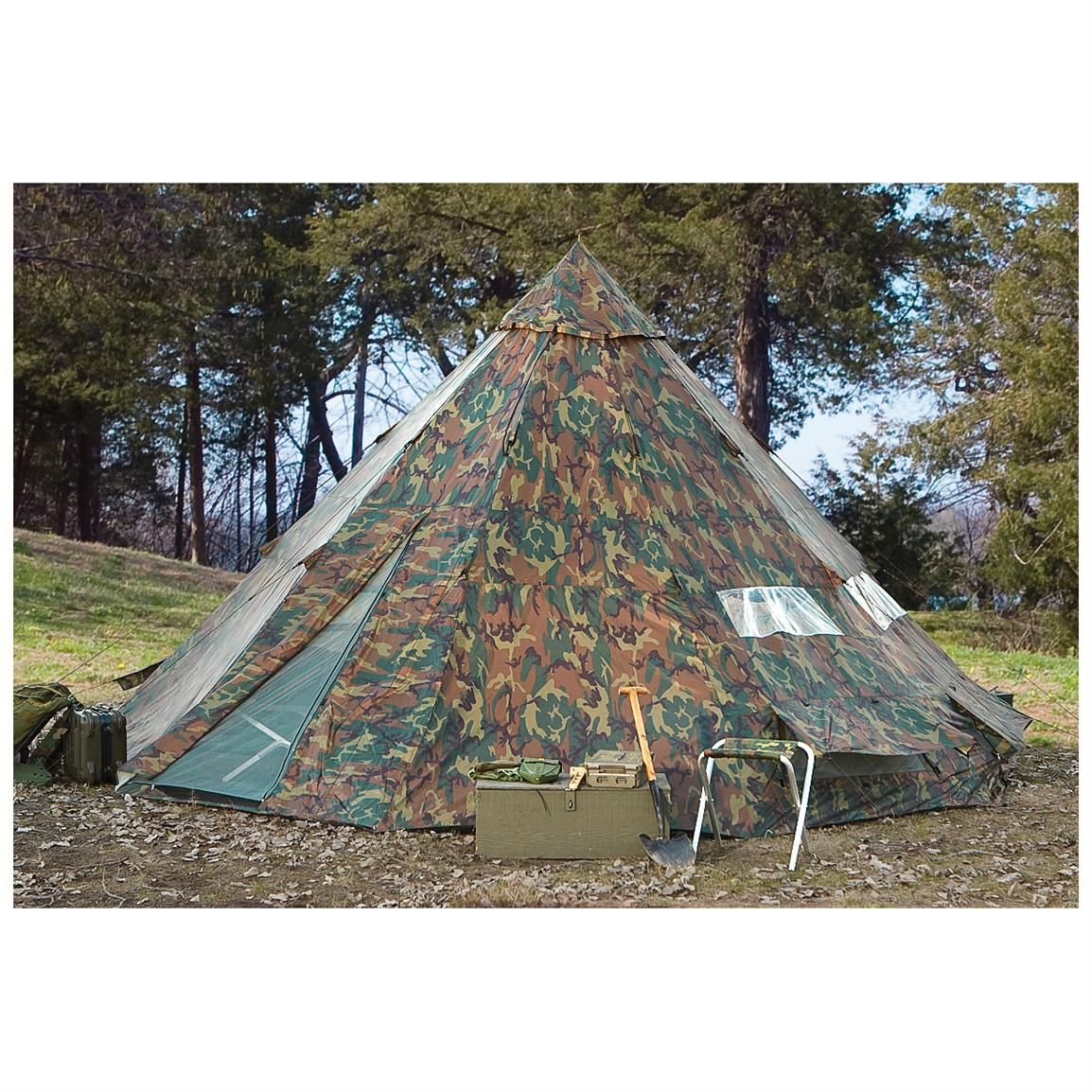 on sale d8412 01559 HQ ISSUE 10x10 foot Teepee Tent, Woodland Camo | Preppie ...