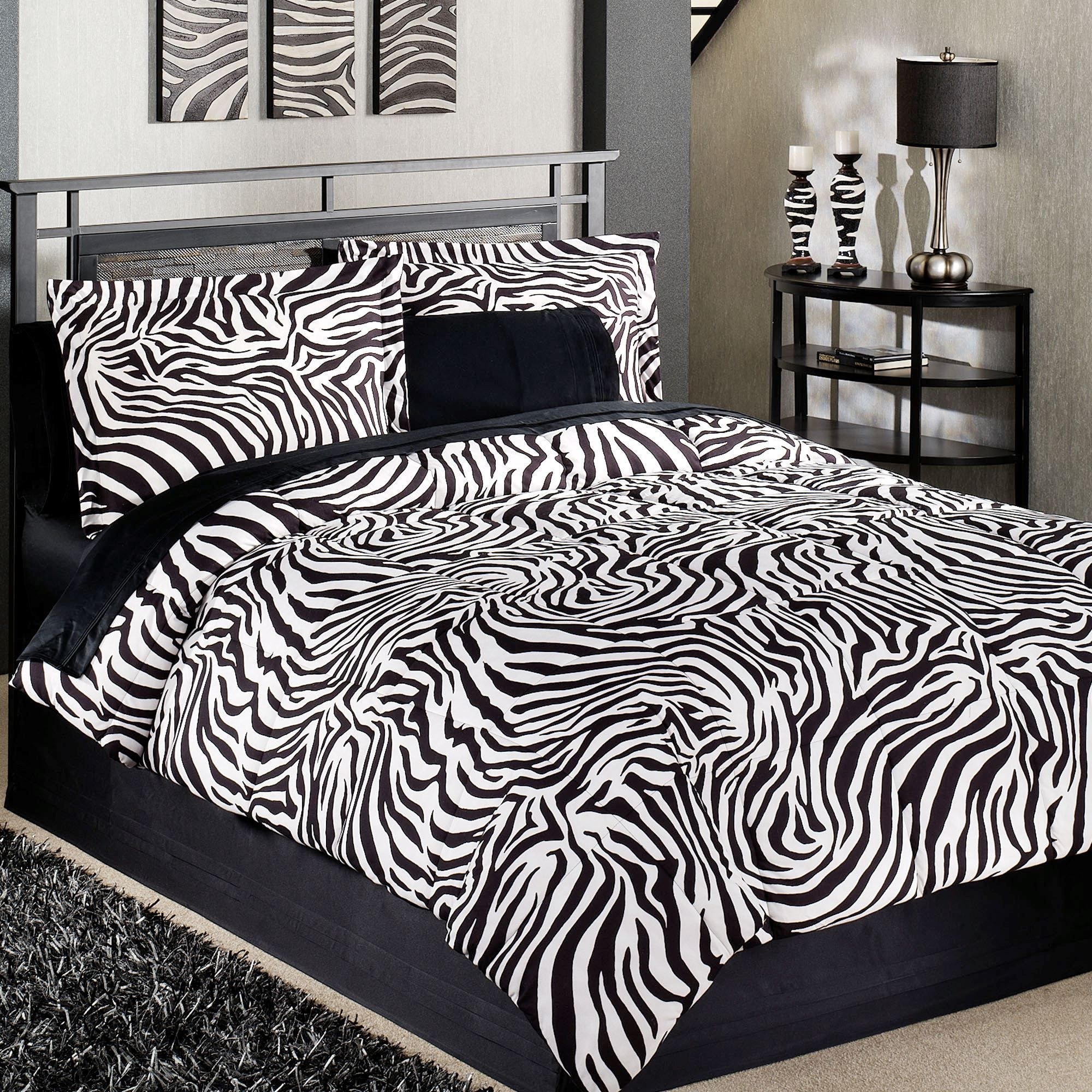 Zebra Bedroom Sets Zebraprintbedding