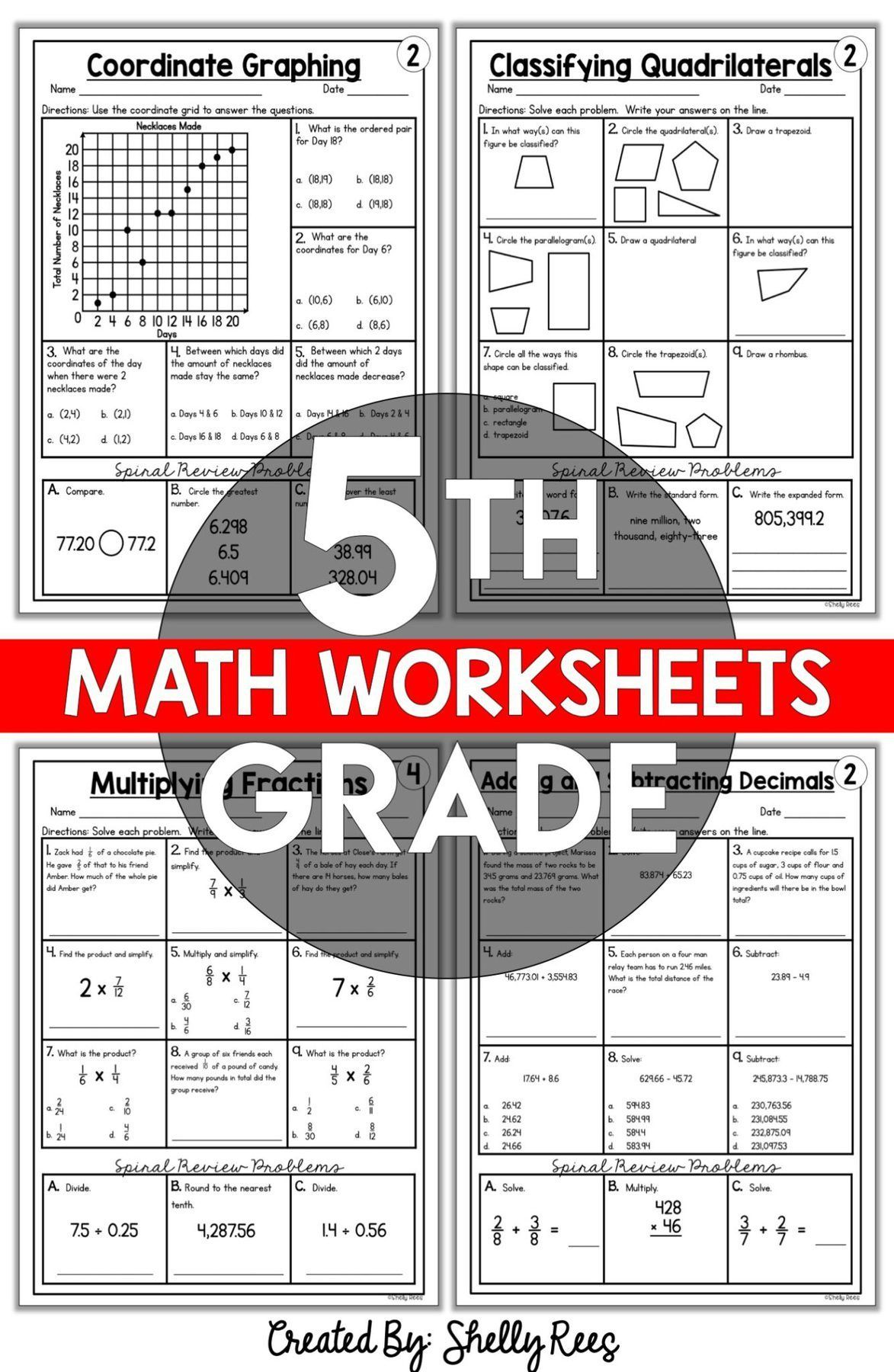 5th Grade Math Worksheets Free And Printable