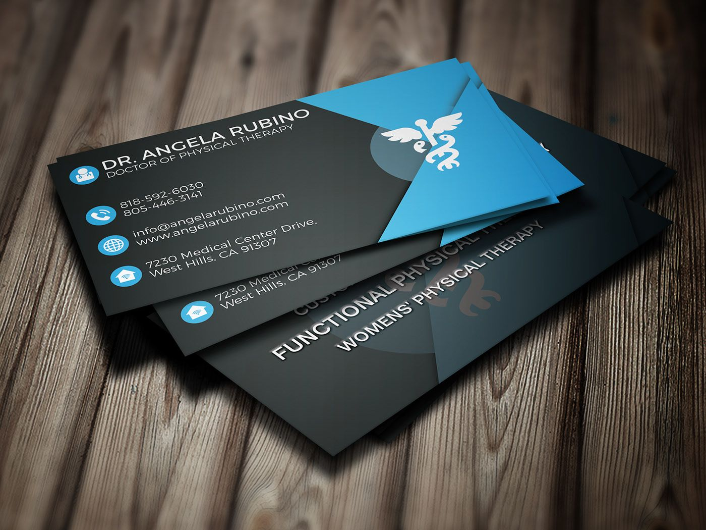 Free Business Card For Doctor On Behance Doctor Business Cards Logo Design Branding Business Cards Visiting Card Design